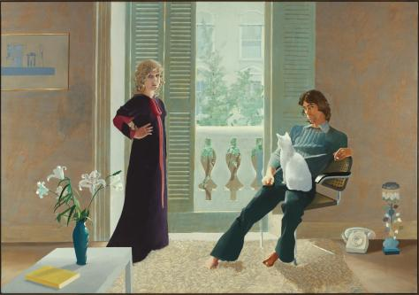 Mr and Mrs Clark and Percy 1970-1 David Hockney born 1937 Presented by the Friends of the Tate Gallery 1971 http://www.tate.org.uk/art/work/T01269